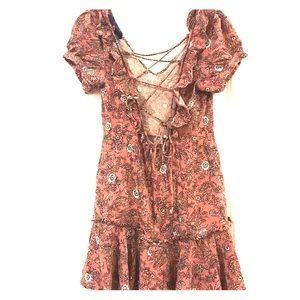 Floral Francescas dress with lace up back